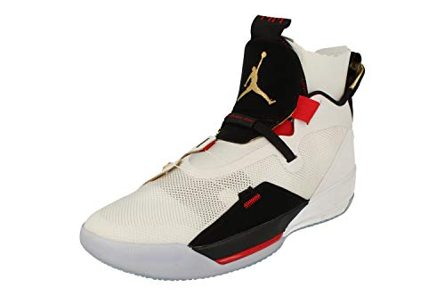 Nike Herren Air Jordan Xxxiii Basketballschuhe, Mehrfarbig (White/Metallic Gold/Black/Vast Grey 100), 46 EU