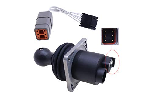 Jeenda Dual Axis Joystick Controller Assy JS100 62390 101174 101174GT with Harness Adapter 119613 119613GT 101005 for Genie S-45 S-60 S-65 S-80 S-85 S-100