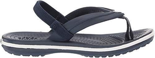 Crocs Unisex-Kinder Crocband Strap Flip Zehentrenner, Blau (Navy 410b), 27/28 EU
