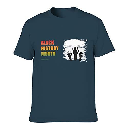 Camiseta negra con diseño de mes de historia para hombre, estilo europeo, con sensación de luz, regalo para novio