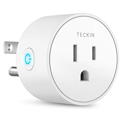 Smart Plug Mini Outlet Compatible with Amazon Alexa and Google Assistant, TECKIN Wifi Enabled Remote...