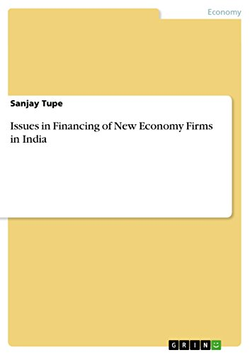 Issues in Financing of New Economy Firms in India (English Edition)