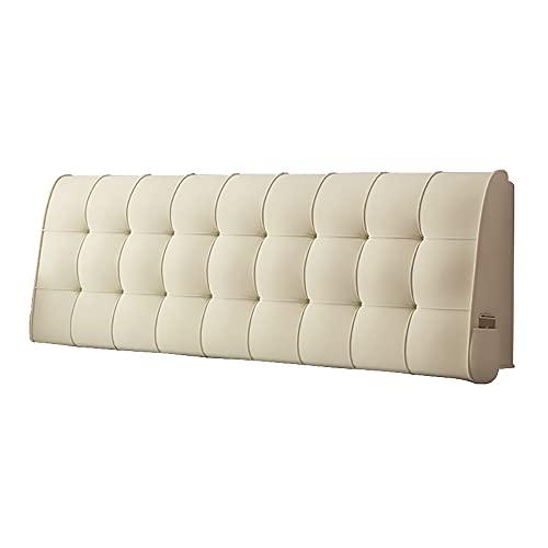 YShop Cojín de esponja, respaldo desmontable Tatami, respaldo de lectura, diseño simple y moderno, almohada de apoyo lumbar de terciopelo (tamaño: 80 x 60 x 6 cm, color: beige)