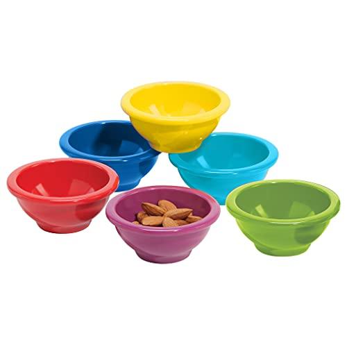 Oggi Melamine 6-Piece Pinch Bowl Set, Assorted Colors