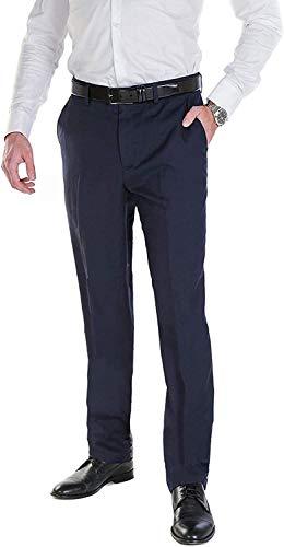 Hirschthal Herren Anzughose mit Bügelfalte, Blau, Gr. 44 - Regular Fit