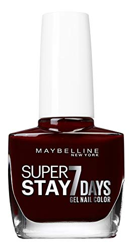 Maybelline New York – Vernis à Ongles Professionnel – Technologie Gel – Super Stay 7 Days – Teinte : Rouge Couture (287)
