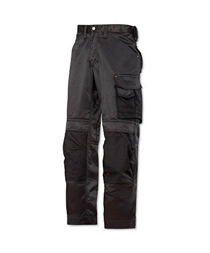 Snickers STC-NM245BK-34R 3312 Duratwill Hose ohne Holstertaschen, Regular, uni, 52% Baumwolle/48% Polyamid, Größe 34, schwarz