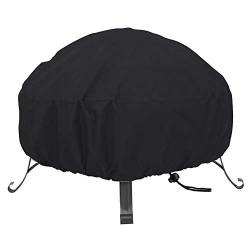 Alomejor Fire Pit Cover Oxford Fabric Outdoor Garden Patio Heater Cover for Garden Fire Bowl Cover Protector(82x31cm)