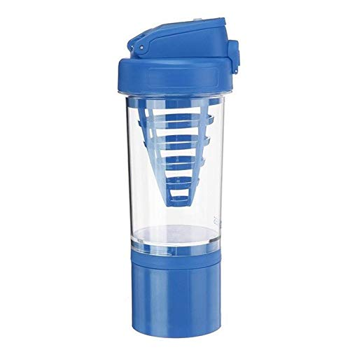 wdonddonsh Taza de Viaje de 500ML Deportes portátiles Botella de la Bebida del Mezclador de la coctelera Taza del Agua de la proteína de plástico a Prueba de Fugas de la Botella del Shaker