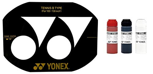YONEX Badmintonsaite Schablone, und YONEX Tinte Yonex Black Stencil Ink