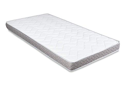 Evergreenweb - Colchón para sofá 70 x 190 cm, cama individual para banco B.Z. 12 cm de altura, revestimiento blanco hipoalergénico, colchón auxiliar plegable de espuma – DAYBED