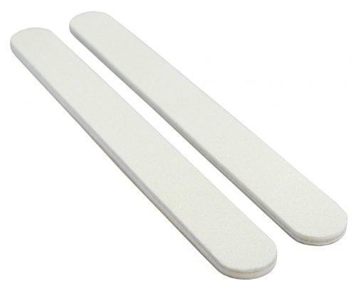 White 80/80 Washable Nail File 12 Pack by Nail File Guru