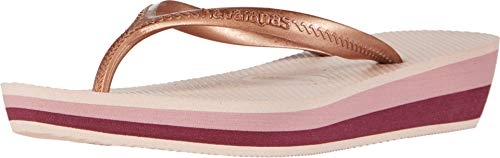Havaianas Women's High Light Flip Flop Sandal, ballet rose, 8 M US