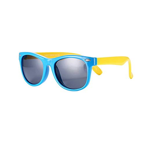 FOURCHEN Gafas de sol para niños, gafas de sol Kids Rubber flexible...