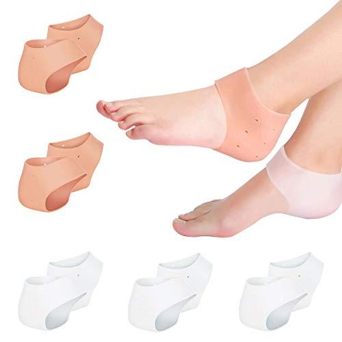10Pack(5Pair) Plantar Fasciitis Inserts Pads,Gel Heel Cushion,Silicone Heel Protectors,Heel Guards & Heel Cups to Repair Dry Cracked Heel and Reduce Pains of Plantar Fasciitis,Heel Sore