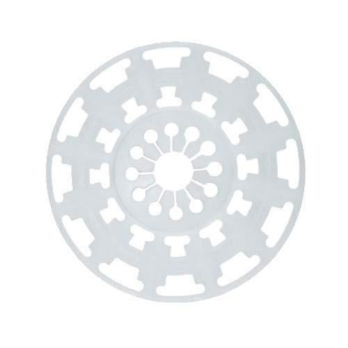 100 Dübelteller Auflagevergrößerung auf 90mm für Steinwolle Dämmplatten Dämmstoffhalter Mineralwolle EPS Dämmstoffdübel