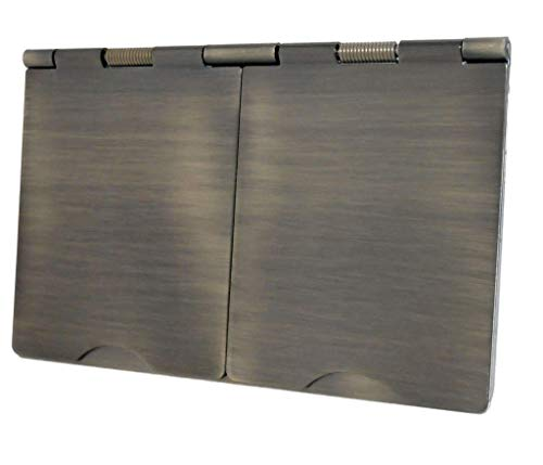 CLJ-LJ Plate H 6164AB 2 Alturas de Bronce Antiguo Floor Socket 4 Módulo