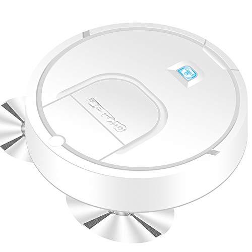Gesh 1800Pa Limpiador de pisos inteligente multifuncional, 3 en 1 Auto recargable Smart Sweeping Robot Seco Wet Sweeping Aspiradora blanca