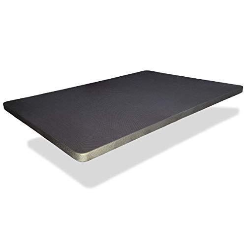 Base tapizada 90x190 cm,Patas NO Incluidas 5 Refuerzos TRANSVERSALES, Tubo 40x30 MM, Tejido 3D Transpirable, 6CM Grosor. Color Gris Marengo.