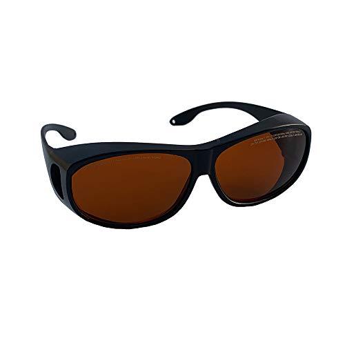 190 nm-450 Nm / 800Nm-1700Nm Longitud de onda IPL Gafas protectoras, verde azul de luz infrarroja Gafas, para el técnico del láser Nd: YAG Protección para los ojos Gafas, compatible miope Glasses