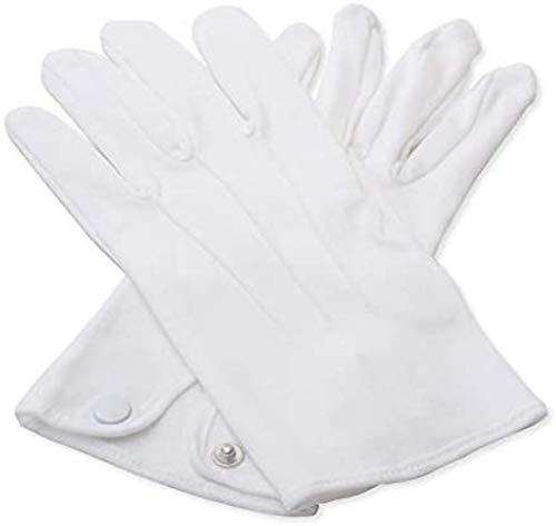 Masonic Handschuhe, 100 % Baumwolle, weiß Gr. Medium, weiß