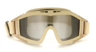 UKARMS Tactical Airsoft Metal Mesh Goggles (Tan)