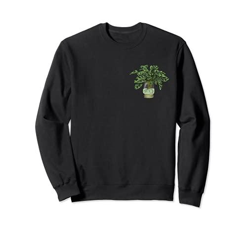 Monstera Deliciosa I Tropische Zimmerpflanze Topf Monstera Sweatshirt