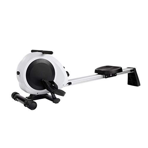 XBSLJ Rudergeräte klappbar Rudergeräte faltbar, Rudergerät für den Innenbereich, 3 einstellbare Widerstände, 100 kg Gewichtskapazität, Cardio-Gerät für Ganzkörperübungen