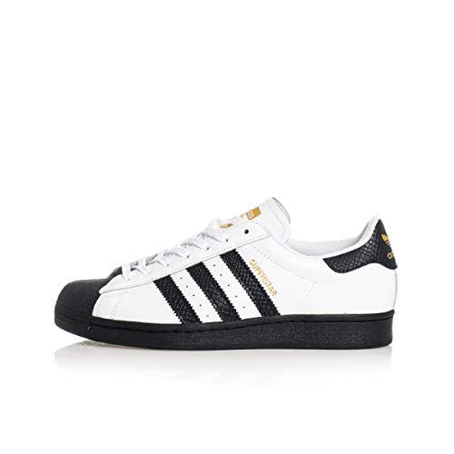 adidas skateboard superstar adv, schuhe weiß kern schwarz gold metallic, 7,5