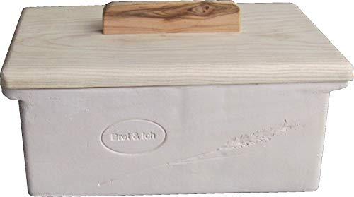 Stonecrystall Brotkasten aus Ton, gebrannt, Nicht glasierter Brottopf