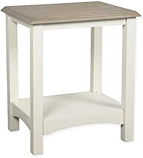 Accent Table in Grey/White, Rectangular Shape with A Traditional Look