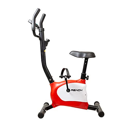 Reach B-100 Upright Exercise Cycle for Weight Loss at Home - Suitable for All Ages and Fat Burning (Red)