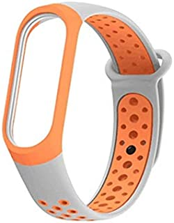 HAWEEL Bands Sports Wristbands Straps, Colorful Silicone Wrist Strap Watch Band for Xiaomi Mi Band 3 & 4 (Black Grey)