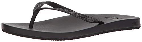 Reef Women's Cushion Stargazer Sandal, Black, 10