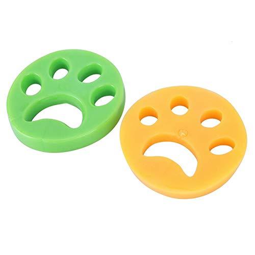 2 uds removedor de Pelo para Mascotas para Lavadora de Ropa, recogedor de Pelo para Mascotas, removedor de Piel para Mascotas para Ropa/Ropa de Cama(Amarillo + Verde)