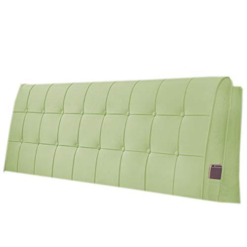 Cojín de lectura grande y suave Cojín de cabecera Almohada Cojines Cuña Estuche blando Desmontable y lavable No deforme, 3 colores, 5 tallas,Verde,A90*60 * 10cm