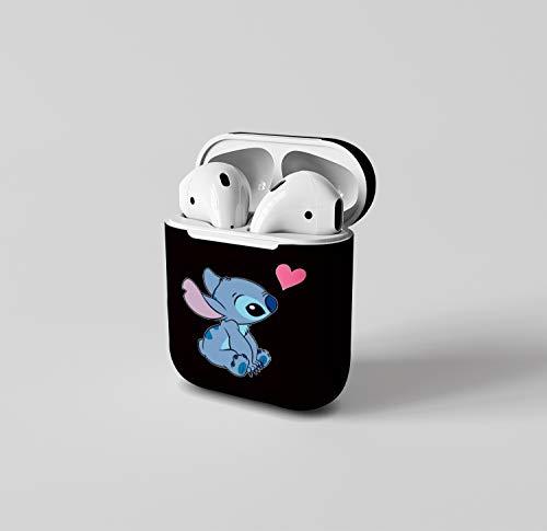 Cover leggera per AirPods 1 e 2, antiurto, con cover in silicone per Apple AirPods 1 e 2, adatta a ragazze e ragazzi, a forma di cuore, rosa carino, amore, amicizia, amore amore
