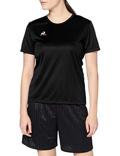 Le Coq Sportif N°1 Maillot SS Match Premium W Camiseta de Manga Corta, Mujer, Black, S