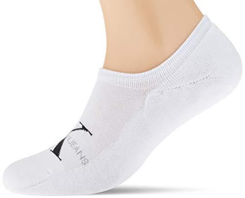 Calvin Klein Socks Mens Liner 1p ck Jeans Logo Vinnie Socks, white, ONE SIZE