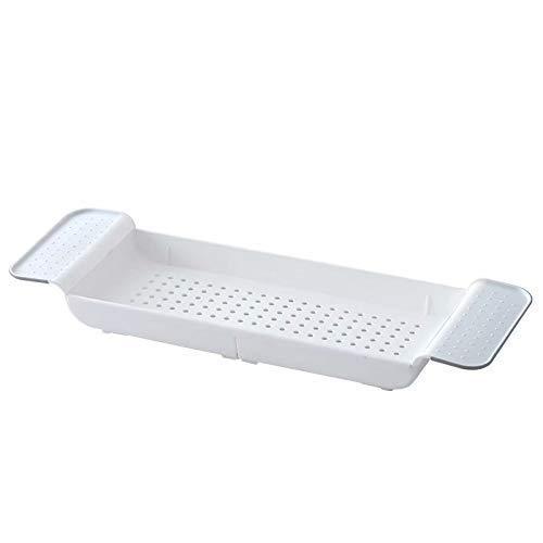 XHLLX Speicher badewanne Caddy badewanne laufe badewanne badewanne badewelle Kunststoff teleskop badewanne Badezimmer Badezimmer Show Organizer Bad Basin Speicher Rack Einstellung rutschfest