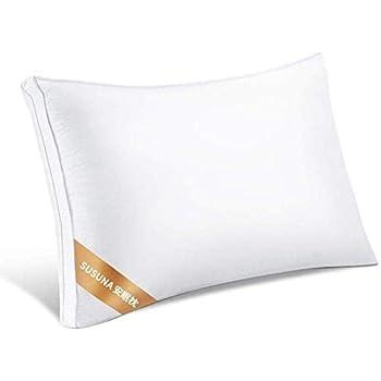 SUSUNA 枕 安眠 良い通気性 快眠枕 高級ホテル仕様 高反発枕 横向き対応 丸洗い可能 立体構造43x63cm