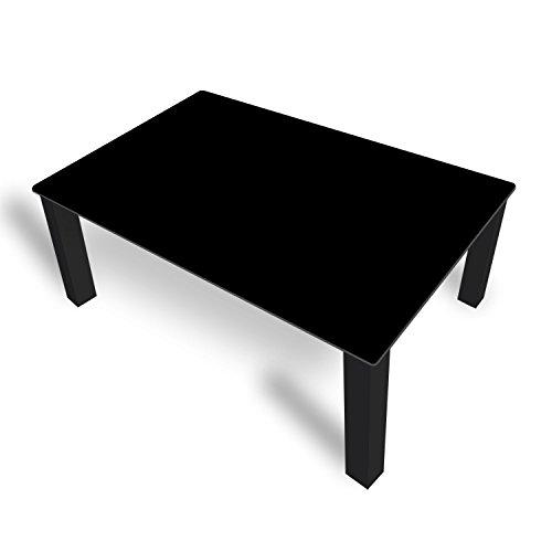 DekoGlas FMK-51-070 Table Basse en Verre Noir uni Hauteur 45 cm Table avec Plateau en Verre 80 x 80 cm 100 x 100 cm 90 x 55 cm 112 x 67 cm 120 x 75 cm