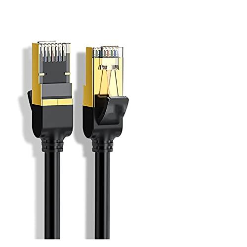 without Cable Ethernet RJ45 Cat7 Lan Cable FTP RJ 45 para cable de conexión compatible con Cat6 para módem Router Cable Ethernet (Color: Cat7 Cable redondo, longitud: 5 m)