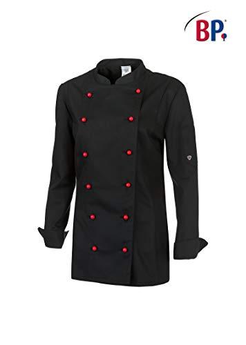 BP 1542-400-32-36 Kochjacke für Frauen, Lange Ärmel mit Manschetten, 215,00 g/m² Stoffmischung, schwarz ,36