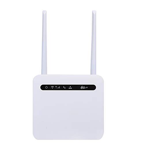 Router 4G portátil, conmutador de frecuencia Gigabit Ethernet 2 en 1 Entre la Red 4G y la Red Cableada para Viajar al Extranjero/hogar/Oficina Comercial 300Mbps(YO)