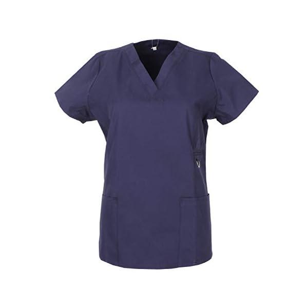 MISEMIYA – Casaca Sanitarios Mujer Mangas Cortas Uniforme Laboral CLINICA Estética Limpieza Veterinaria SANIDAD Dentista HOSTELERÍA Ref.707
