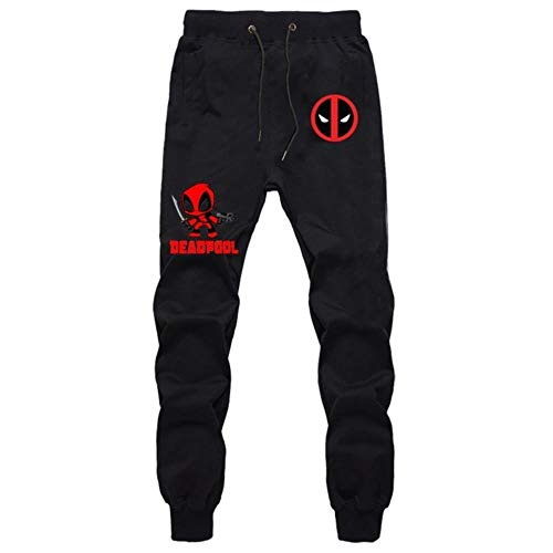 GuiSoHnp Japan Anime Deadpool Sweatpants Cosplay Trainigshose Sporthose Jogginghose Jogger Lange Trousers mit Taschen M