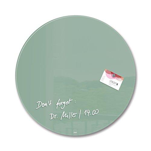 SIGEL GL291 Glas-Magnetboard / Magnettafel Artverum Grün, Kreis Ø 40 cm - weitere Farben/Form