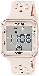 professional Armitron Sport Unisex 40/8417PBH Rose Gold Tone and Perforated Brush Digital Chronograph…