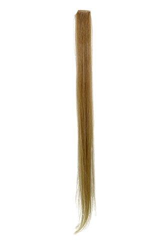 1 Clip Extension Strähne glatt Hell-Asch-Blond YZF-P1S25-24 63cm/ 25inch Haarverlängerung Haarteil Farbton: 24